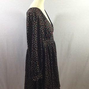 TORRID Beautiful Black Floral Lined Dress EUC 18